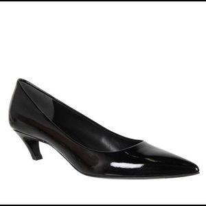 New Balenciaga Slash Kitten Heel Patent Pumps